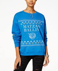 hanukkah apparel freeze 24 7 juniors matzah ballin sweatshirt macys 2017