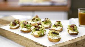 crostini with ricotta brussels sprouts and maple bacon today