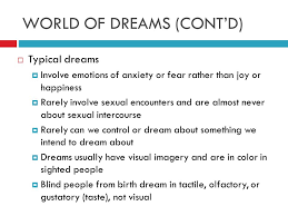 Can A Blind Person Dream Module 7 Sleep And Dreams Type Minute Quiz U2026pick Up Your Worksheet