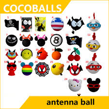 Car Antenna Flags Cocoballs Bee Mickey Jack Flag Antenna Topper For Car Aerial Ball