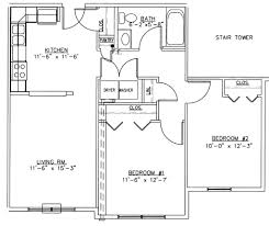 House Plans 2 Bedroom Plans Small House Floor Plans 2 Bedrooms Two Bedroomed House Plans