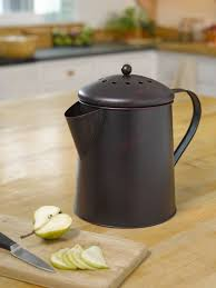coffee pot compost pail kitchen compost pail gardeners com