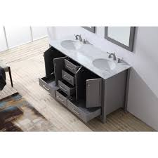 stufurhome 60 inch malibu grey double sink bathroom vanity free