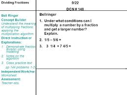unit 2 fraction operations ppt video online download