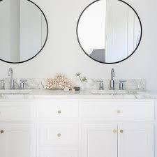 black bathroom mirrors round black bathroom mirrors design ideas