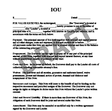 installment plan agreement template free iou template create an iou form legaltemplates