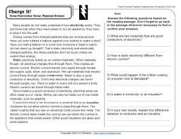 reading comprehension 4th grade charge it 4th grade reading comprehension worksheet