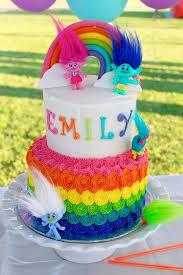 trolls cake girls birthday cakes cake troll party
