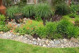 Rock In Garden Landscape Ideas With River Rock Front Yard Landscaping Ideas River