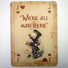 Alice In Wonderland Inspired Home Decor 1 Alice In Wonderland A4 Quote Giant Playing Card Prop Mad Hatters