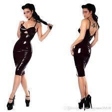 plus size bodycon jumpsuit 2018 black leather look jumpsuit dress bodysuit for pvc