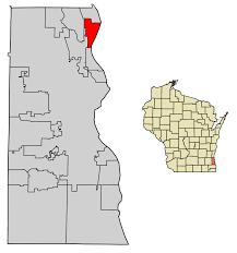 Wisconsin Map Usa Fox Point Wisconsin Wikipedia