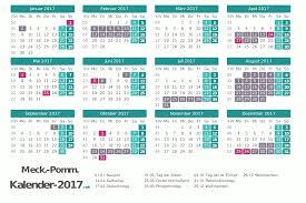 Kalender 2018 Feiertage Mv Ferien Meck Pomm 2017 Ferienkalender übersicht