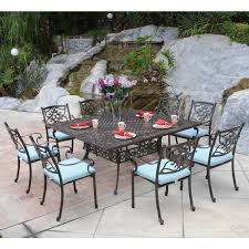 Aluminum Patio Dining Table Meadow Decor 65 Inch Large Square Cast Aluminum Dining Table
