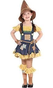 Womens Scarecrow Halloween Costume Girls Toddler Pumpkin Patch Scarecrow Costume Halloween
