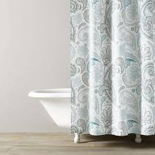 Turquoise Shower Curtains Paisley Shower Curtain Kassatex