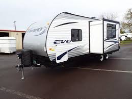 Forest River EVO Travel Trailer  Slide Out Stainless - Travel trailer with bunk beds