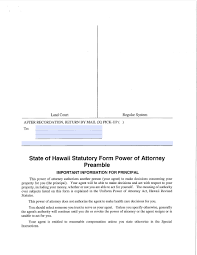 Connecticut Power Of Attorney by Hawaii Real Estate Only Power Of Attorney Form Power Of Attorney