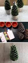 Decorating Pine Cones With Glitter Pine Cone Christmas Trees Click Pic For 22 Diy Christmas Decor