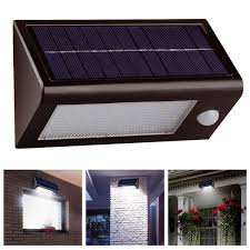 solar powered sensor security light solalite 400 lumens 32 led smd solar powered rechargeable pir motion