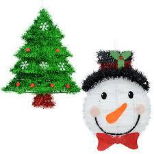 bulk tinsel snowman and tree wall decorations at dollartree com