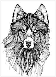 wolf coloring pages adults justcolor
