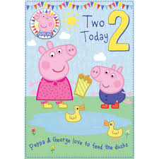 peppa pig birthday 2 today peppa pig birthday card with badge 300642 character brands