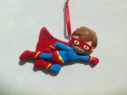 personalized super hero baby boy u0027s first christmas ornament