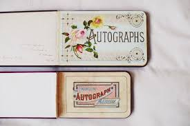 vintage autograph albums other things