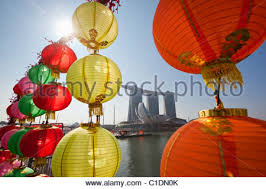 New Year Bay Decoration by Chinese New Year Decorations With The Marina Bay Sands Hotel In