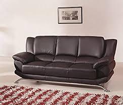 Amazoncom Modern Line Furniture Bs Contemporary Leather Sofa - Contemporary modern sofas