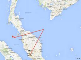 Singapore Air Route Map by Map Route Of Missing Plane Per Malaysian Military Business Insider