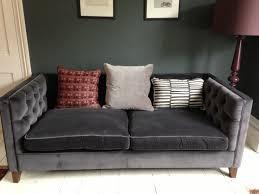 Velvet Settee Sofas Grey Velvet Sofa Sofas