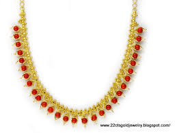 red gold necklace images Gold necklace with red beads buy gold necklace product on jpg
