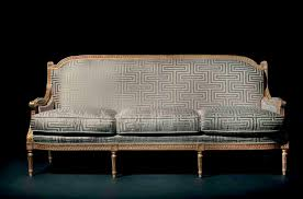 canape louis xvi louis xvi style sofa fabric 3 seater anthracite mg 3143