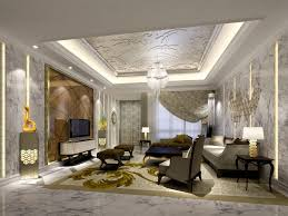 living room latest gypsum board ceiling design for luxury living