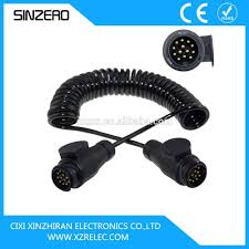 trailer 7 core wire connectors xzrt005 electrical spiral cable