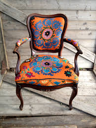 Armchair Upholstered Antique French Armchair Upholstered In Vintage By Chezboheme