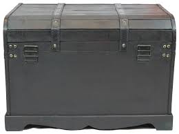 antique style black wooden steamer trunk coffee table vintiquewise