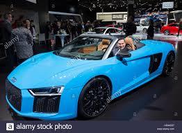 audi detroit detroit michigan the audi r8 v10 convertible on display at the