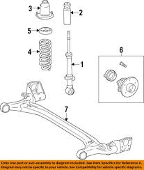 toyota corolla struts 09 10 toyota corolla strut rear passenger exc xrs and s 48530