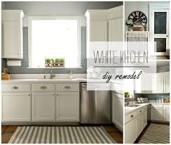 Painted Kitchen Cabinets Before And After Pictures Builder Grade Kitchen Makeover With White Paint