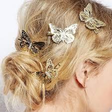 beautiful hair pins 1 pcs beautiful hairpins shinny women s gold plated hair barrette