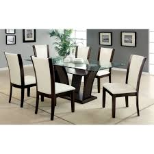dining room 7 piece modern formal dining room set orientation