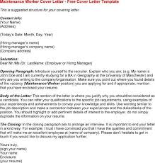 maintenance worker cover letter professional maintenance worker