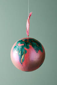 painted globe ornament anthropologie