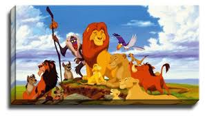 lion king canvas wall art picture print poster ebay