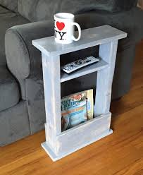 skinny side table mini side table apartment decor small space
