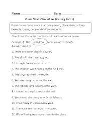nouns worksheets singular and plural nouns worksheets
