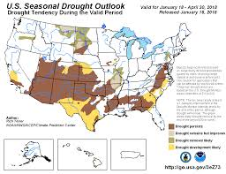 us weather map for april climate prediction center seasonal drought outlook